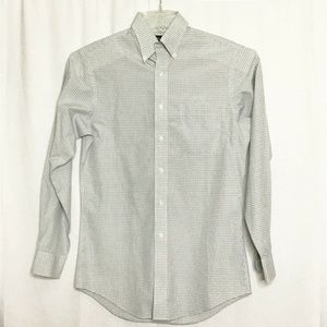 Jos A Bank Shirt Traveler's Collection Beige Plaid